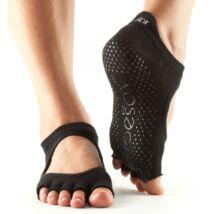 Jógazokni Bellarina Fekete - Toesox - L - Half toe, lábujj nélküli