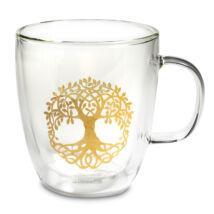 Dupla üvegfalú teásbögre - Élet fája