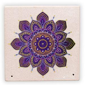 Füstölőtartó -Mandala virággal