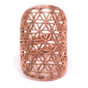 Réz színű gyűrű - 3x2 cm