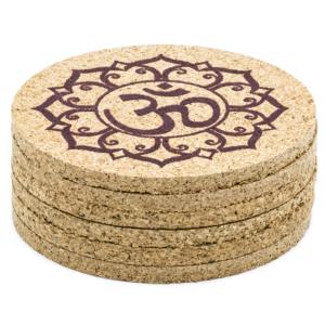 Ohm Lotus  mintás poháralátét parafa készlet 6 db