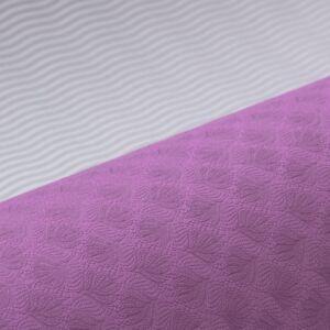 Jóga szett Flow - 1 matrac, 2 tégla, 1 heveder - Lila