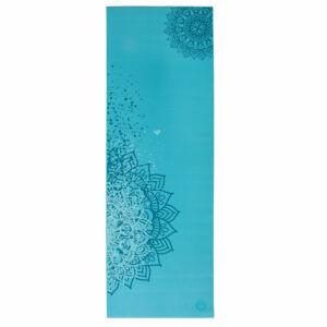 Jógaszőnyeg - Leela Kollekció - 4,5mm- Blue Curacao/világoskék - mandala mintával