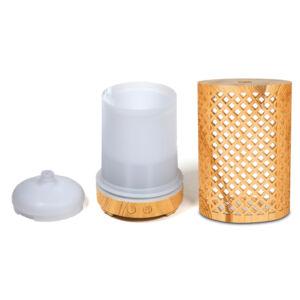 Ultrahangos Zen Breeze aromadiffúzor természetes fa hatással