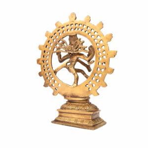 Nataraj sárgaréz szobor - 20 cm