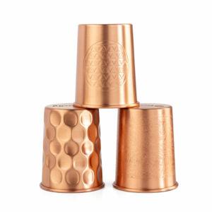 Réz poharak - 2 db 250 ml pohár - Réz, gyémánt