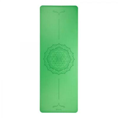 Bodhi Phoenix Jógamatrac - Yantra-Mandala mintával -4MM- 185x66 - zöld