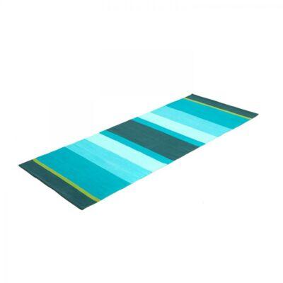 Yoga Rug STRIPED - Pamut jóga szőnyeg kék-zöld