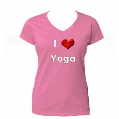 Poló: I love Yoga - pink