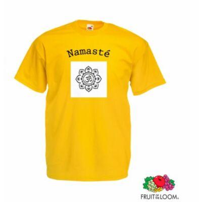 Poló: Namasté - mandala sárga - unisex