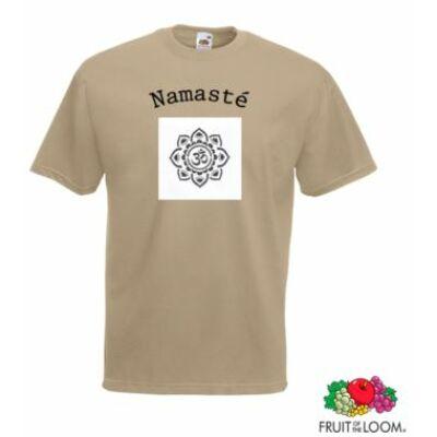 Póló: Namasté - mandala világosbarna - unisex
