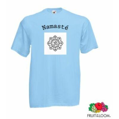 Poló: Namasté - mandala világoskék - unisex