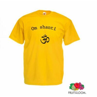 Poló: Om Shanti sárga, unisex
