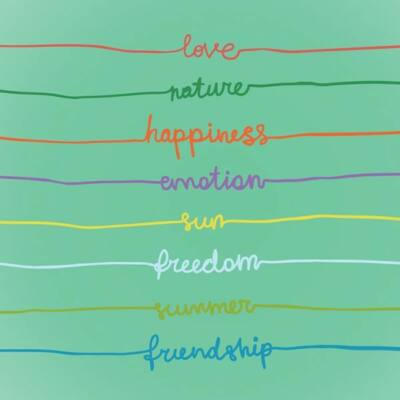 Hűtőmágnes - Love, Nature, Happiness