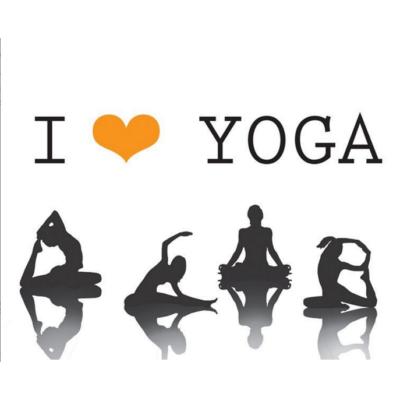 Hűtőmágnes - I love yoga
