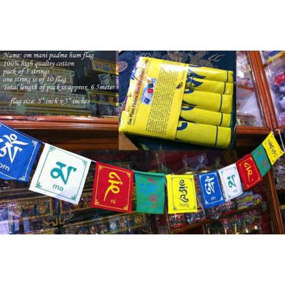 Imazászló csomag Om Mani Padme Hum mantrával