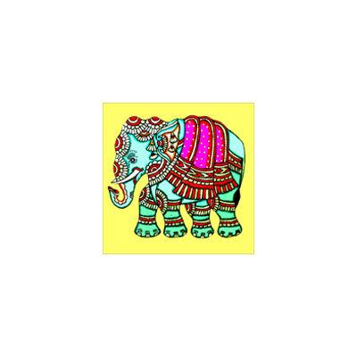 Hűtőmágnes - Sárga elefánt