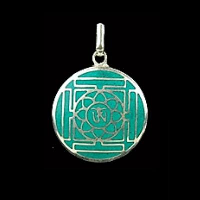Om mandala medál (lánc nélkül)