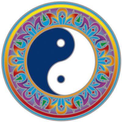 Ablakmatrica Yin Yang 14cm