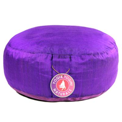 Meditációs párna lila selyemből