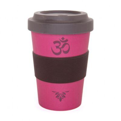Yogi Cup to go - Jógi bögre elvitelre - Málna szín - om-os