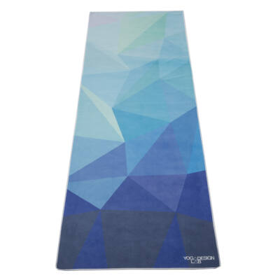 Yoga Design Lab Travel matrac, 1mm, Geo Blue, Türkiz