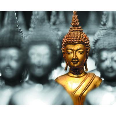 Hűtőmágnes - Arany Buddha Fej