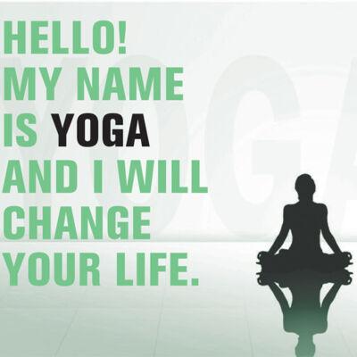 Hűtőmágnes - Hello, My Name is Yoga - zöld