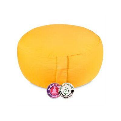 Meditációs párna sárga selyemből