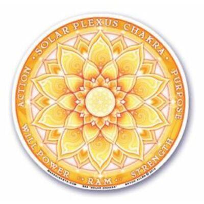 Ablakmatrica, Napfonat, köldökcsakra, Manipura csakra, 10,5 cm