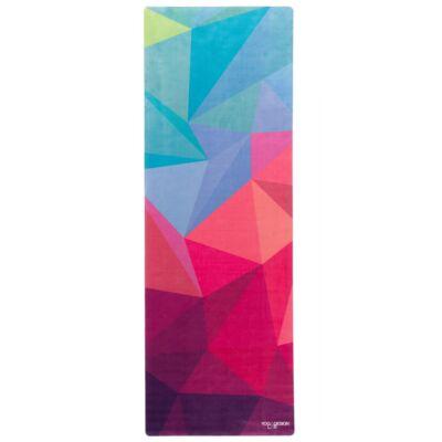 Yoga Design Lab Travel matrac, 1mm, Geo, lila/rózsaszín